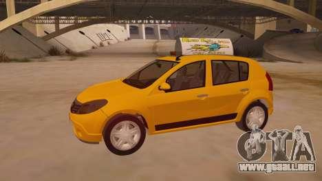 Renault Sandero Taxi para la vista superior GTA San Andreas