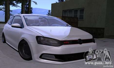 Volkswagen Polo GTI Stanced para GTA San Andreas vista hacia atrás
