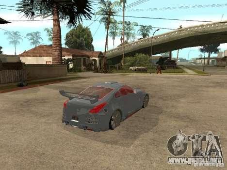 Nissan 350Z Virgo para GTA San Andreas vista posterior izquierda