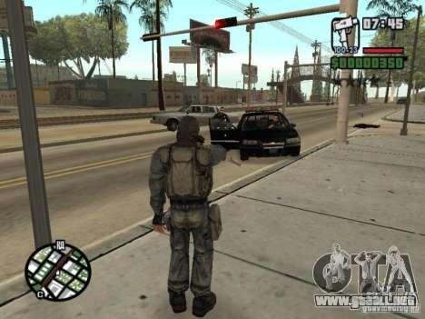 Mercenario acosador de máscara para GTA San Andreas quinta pantalla
