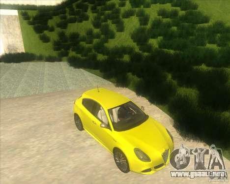 Alfa Romeo Giulietta QV 2011 para la visión correcta GTA San Andreas