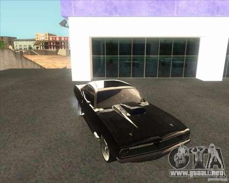 Plymouth Barracuda para la visión correcta GTA San Andreas