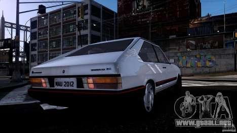 Volkswagen Passat Pointer GTS 1988 Turbo para GTA 4 vista hacia atrás