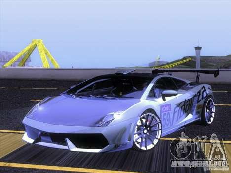 Lamborghini Gallardo Racing Street para vista lateral GTA San Andreas