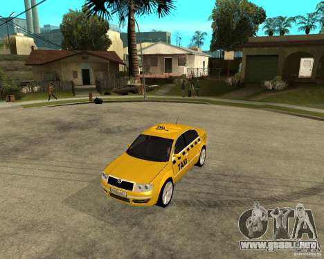 Skoda Superb TAXI cab para GTA San Andreas left