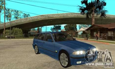 BMW 318i Touring para la vista superior GTA San Andreas