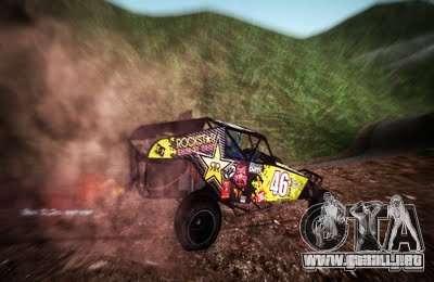Buggy Monster energy para la visión correcta GTA San Andreas