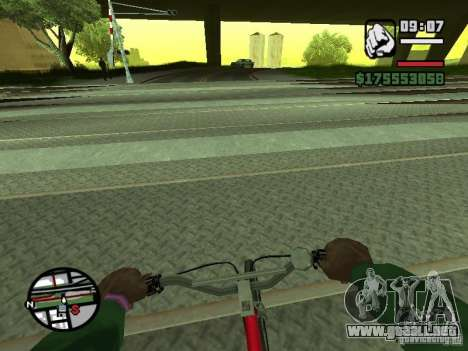 Primera persona (First-Person mod) para GTA San Andreas quinta pantalla