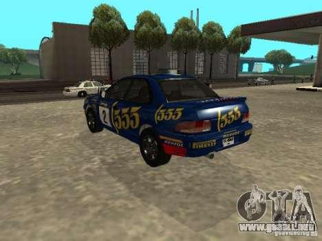 Subaru Impreza WRX STI 1995 para las ruedas de GTA San Andreas