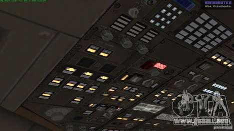 Boeing 757-200 Final Version para GTA San Andreas vista hacia atrás