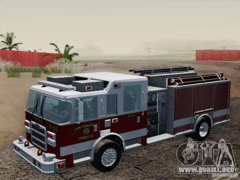 Pierce Pumpers. San Francisco Fire Departament para visión interna GTA San Andreas