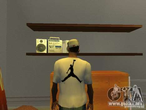 Nike Air Jordan - T-Shirt para GTA San Andreas