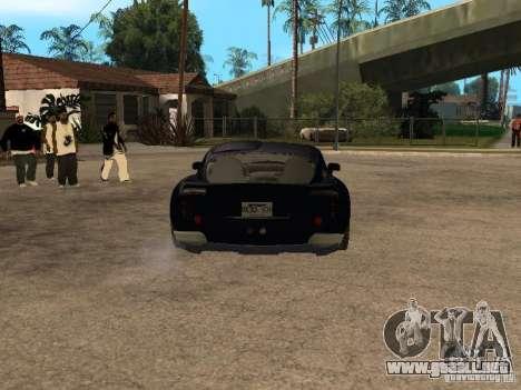 TVR Sagaris para GTA San Andreas vista hacia atrás
