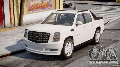 Cadillac Escalade Ext para GTA 4 visión correcta