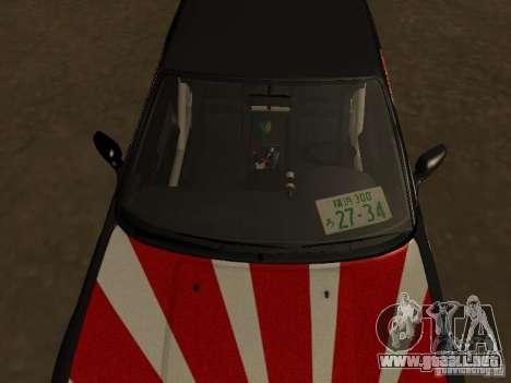 Nissan Silvia S13 JDM para GTA San Andreas vista hacia atrás