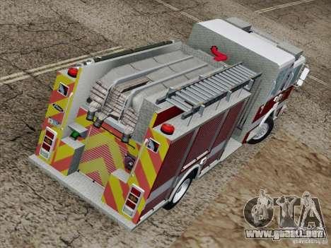 Pierce Pumpers. San Francisco Fire Departament para vista lateral GTA San Andreas