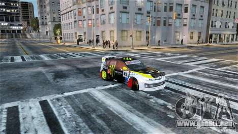 Subaru Impreza WRX STI Rallycross Monster Energy para GTA 4 visión correcta