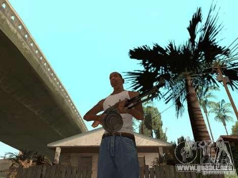 Ametralladora ligera Dâgterëva para GTA San Andreas segunda pantalla
