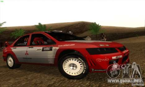 Mitsubishi Lancer Evolution VII para GTA San Andreas left