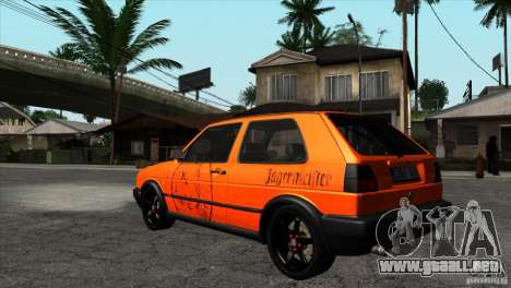 VW Golf 2 para vista lateral GTA San Andreas