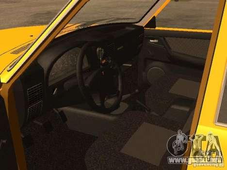Volga GAZ-31105 Taxi para visión interna GTA San Andreas
