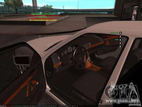 Mercedes-Benz 600SEL AMG 1993 para visión interna GTA San Andreas