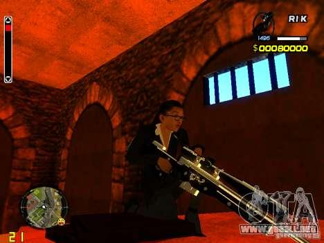 Next weapon pack para GTA San Andreas sucesivamente de pantalla