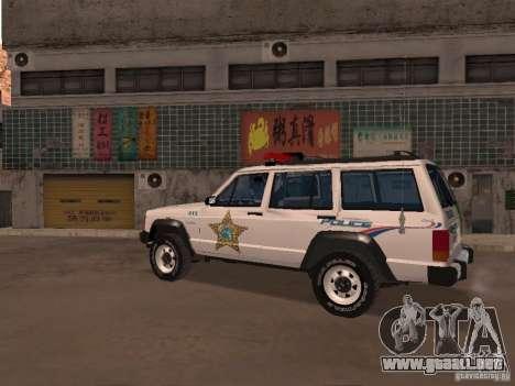 Jeep Cherokee Police 1988 para GTA San Andreas left