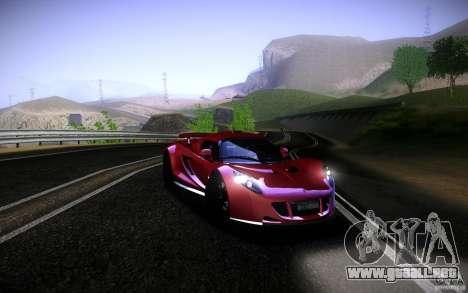 Hennessey Venom GT 2010 V1.0 para GTA San Andreas vista posterior izquierda