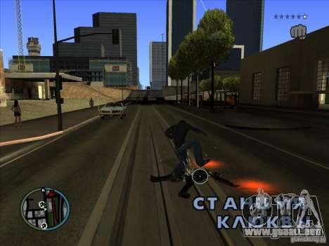 GTA IV TARGET SYSTEM 3.2 para GTA San Andreas quinta pantalla
