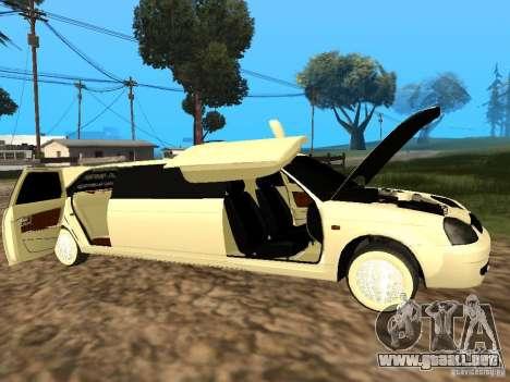 LADA Priora 2170 Limousine para la visión correcta GTA San Andreas