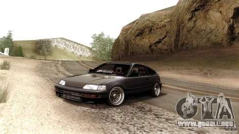 Honda CRX JDM para visión interna GTA San Andreas