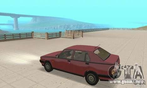 Alfa Romeo 75 para la visión correcta GTA San Andreas