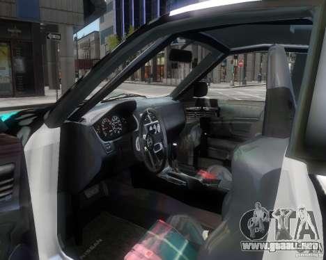 Nissan Silvia S14 Matt Formula Drift para GTA 4 vista interior