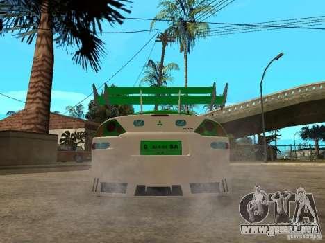 Mitsubishi Eclipse Midnight Club 3 DUB Edition para GTA San Andreas vista posterior izquierda