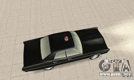 Plymouth Fury III Police para GTA San Andreas vista posterior izquierda