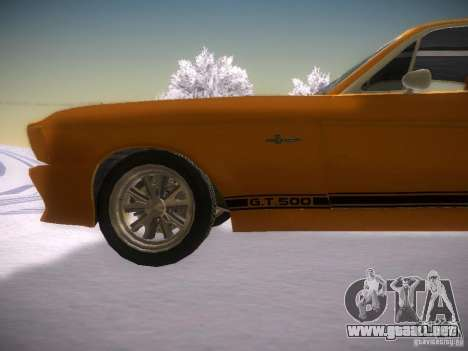 Shelby GT500 Eleanor para GTA San Andreas left