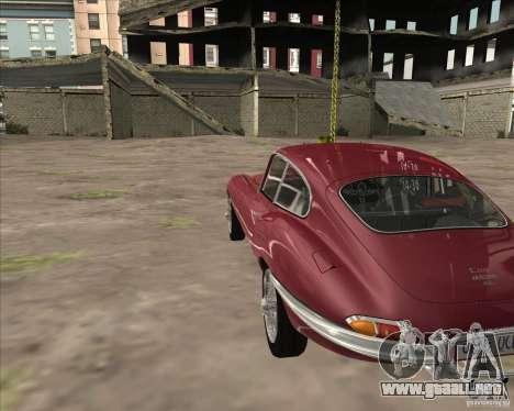 Jaguar E-Type Coupe para la visión correcta GTA San Andreas