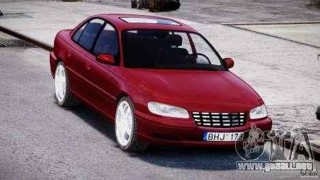 Opel Omega 1996 V2.0 First Public para GTA 4 vista hacia atrás