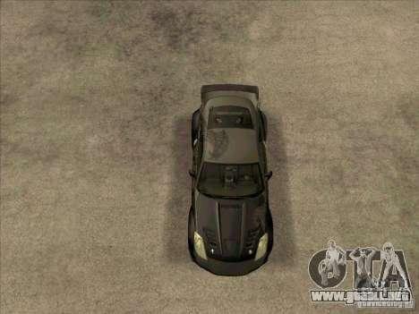 Nissan 350Z DK from FnF 3 para la visión correcta GTA San Andreas