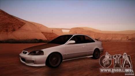 Honda Civic Coupe Si Coupe 1999 para GTA San Andreas