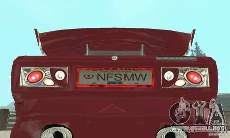 VAZ 2107 Ex Tuning para GTA San Andreas vista hacia atrás