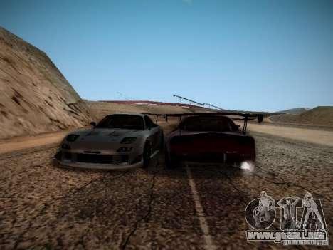 Mazda RX7 Drift para GTA San Andreas vista hacia atrás