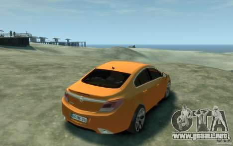 Opel Insignia OPC 2010 para GTA 4 visión correcta