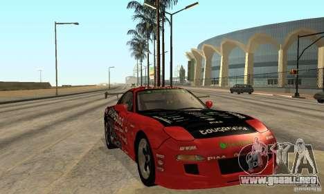 Mazda RX-7 FD3S para GTA San Andreas vista hacia atrás