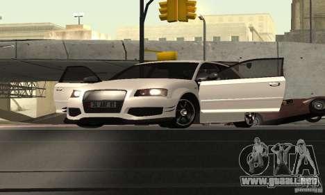 Audi S3 Full tunable para GTA San Andreas vista hacia atrás