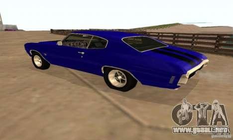 Chevrolet Chevelle SS 1970 para la vista superior GTA San Andreas