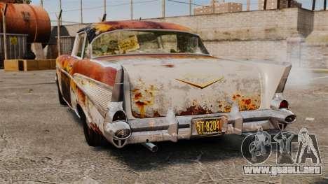 Chevrolet Bel Air 1957 Rusty para GTA 4 Vista posterior izquierda