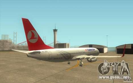 Boeing 737-800 THY para la visión correcta GTA San Andreas
