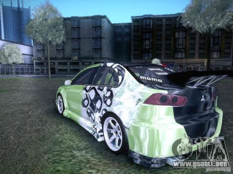 Mitsubishi Lancer Evolution X - Tuning para GTA San Andreas left